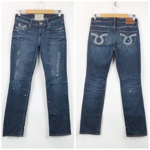 Big Star Distressed Paint Splatter Nina Jeans